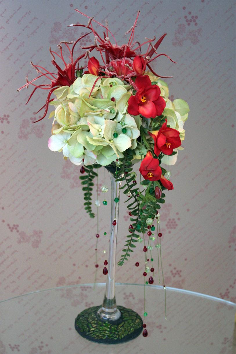 Композиция из искусственных цветов своими руками мастер класс 39